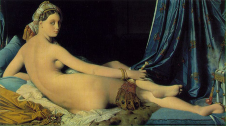 Ingres, Jean-Auguste-Dominique, La Grande Odalisque, 1814, oil on canvas, 91 x 162 cm, Louvre, Paris