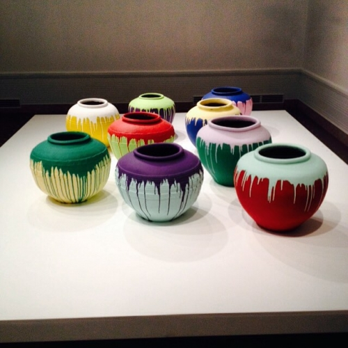 Ai Weiwei coloured vases seattleartmuseum asianartmuseumseattle aiweiwei