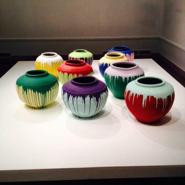 Ai Weiwei coloured vases @seattleartmuseum #asianartmuseumseattle #aiweiwei