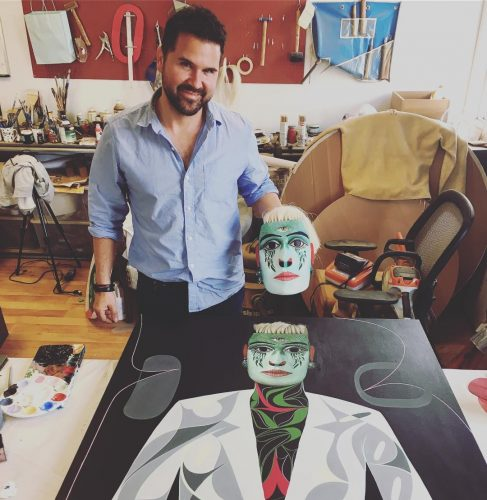 The Master himself Rande Cook w TlayilelaMetamorphosis Mask and paintinghellip