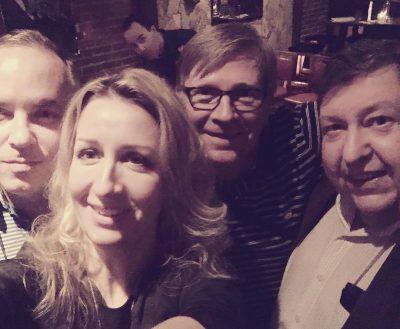 With Noah Becker, Wayne Baerwaldt, Michael Morris and myself. Wonderful evening at Hermanns Jazz Club listening to the Noah Becker Power Trio. Photobombed by Brent Jarvis  #noahbecker #waynebaerwaldt #michaelmorris #carollyneyardley #carollyne @noahbeckerstudio @jarvis.brent @carollyneyardley #canadianart #arttoronto17