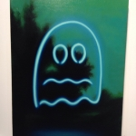 And this ghostly by Megan Ellen Macdonald @paintscats @le.gallery #arttoronto