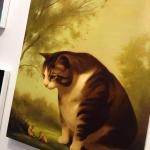 Also loving the cat paintings by Megan Ellen Macdonald @paintscats #arttoronto @le.gallery