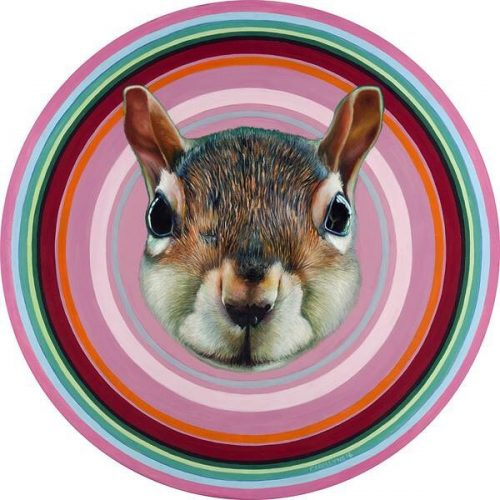 Infinity Squirrel 30 diameter oil on panel Available at Winchesterhellip