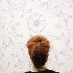 Ai Wei Wei, Finger, wallpaper, 2014 makes a perfect bun shape #aiweiwei