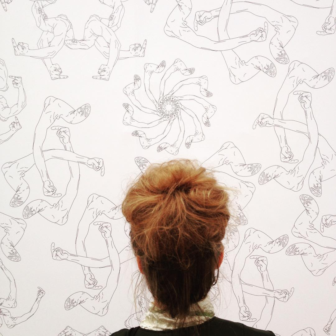 Ai Wei Wei, Finger, wallpaper, 2014 makes a perfect bun shape #aiweiwei