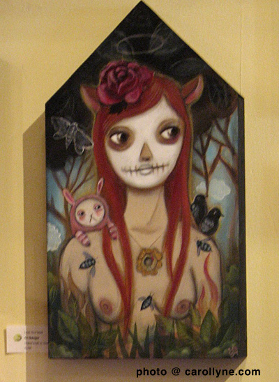 CJ Metzger Dead Love-Muertos in the Forest, 2009 MIXED MEDIA original on boar