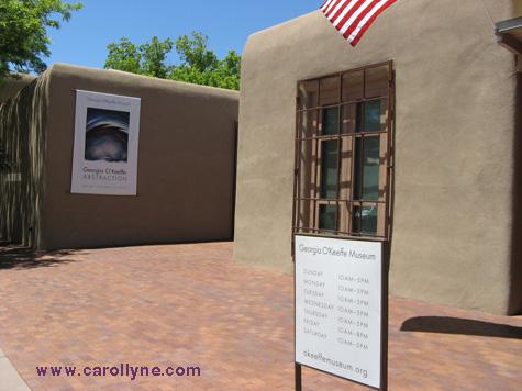 Entrance to the Georgia O'Keeffe Museum, Santa Fe, New Mexico