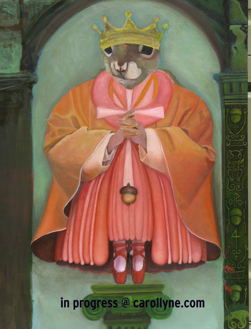 Saint Squirrel with Red Shoes (in progress)