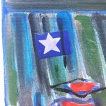 Star found in the details of painting be Carole Sabiston #canadianart #textileartist #star #signpost