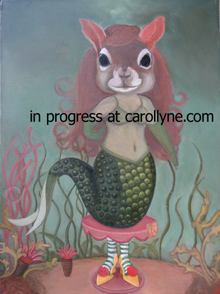Mermaid Squirrel in progress