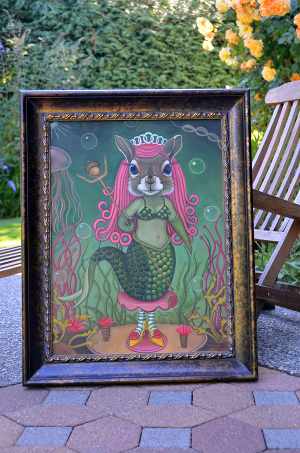 Mermaid Squirrel with frame