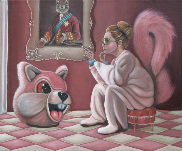 Secret Squirrel, Acrylic on canvas, 2011