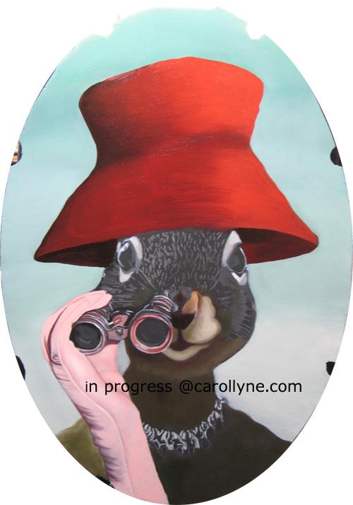 Red Hat Squirrel - in progress