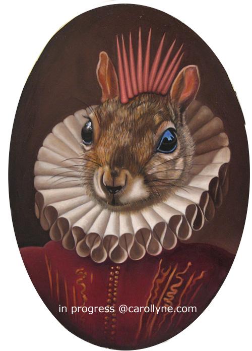 Mohawk Squirrel in progress