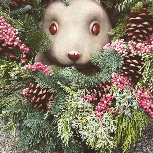 Flower Beard Squirrel returns! Ok time to put that wreathhellip