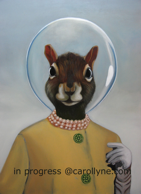 Space Hat Squirrel in progress