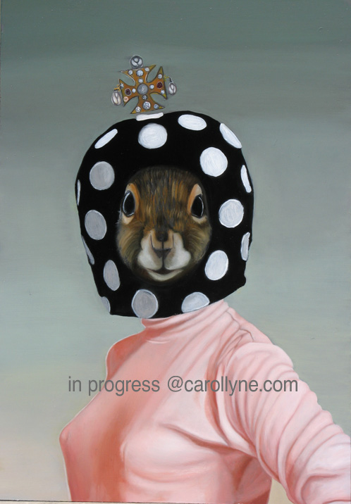Mushroom Hat Squirrel - in progress