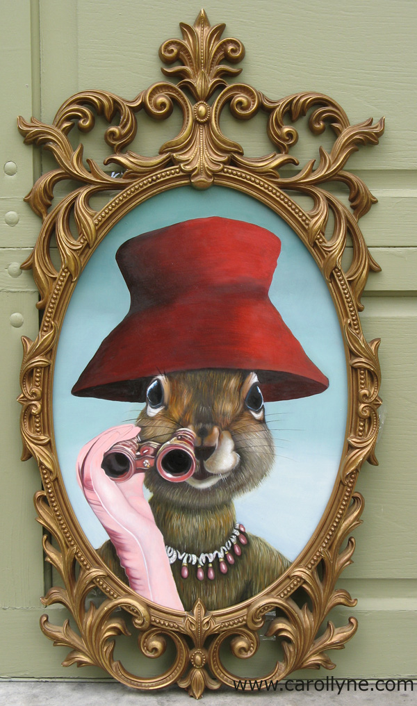Red Hat Squirrel with frame - complete