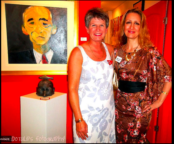 Artists Marion Evamy (+ owner of Red Art Gallery) and Carollyne Yardley | Photo by PORIDOTULIPS fotography
