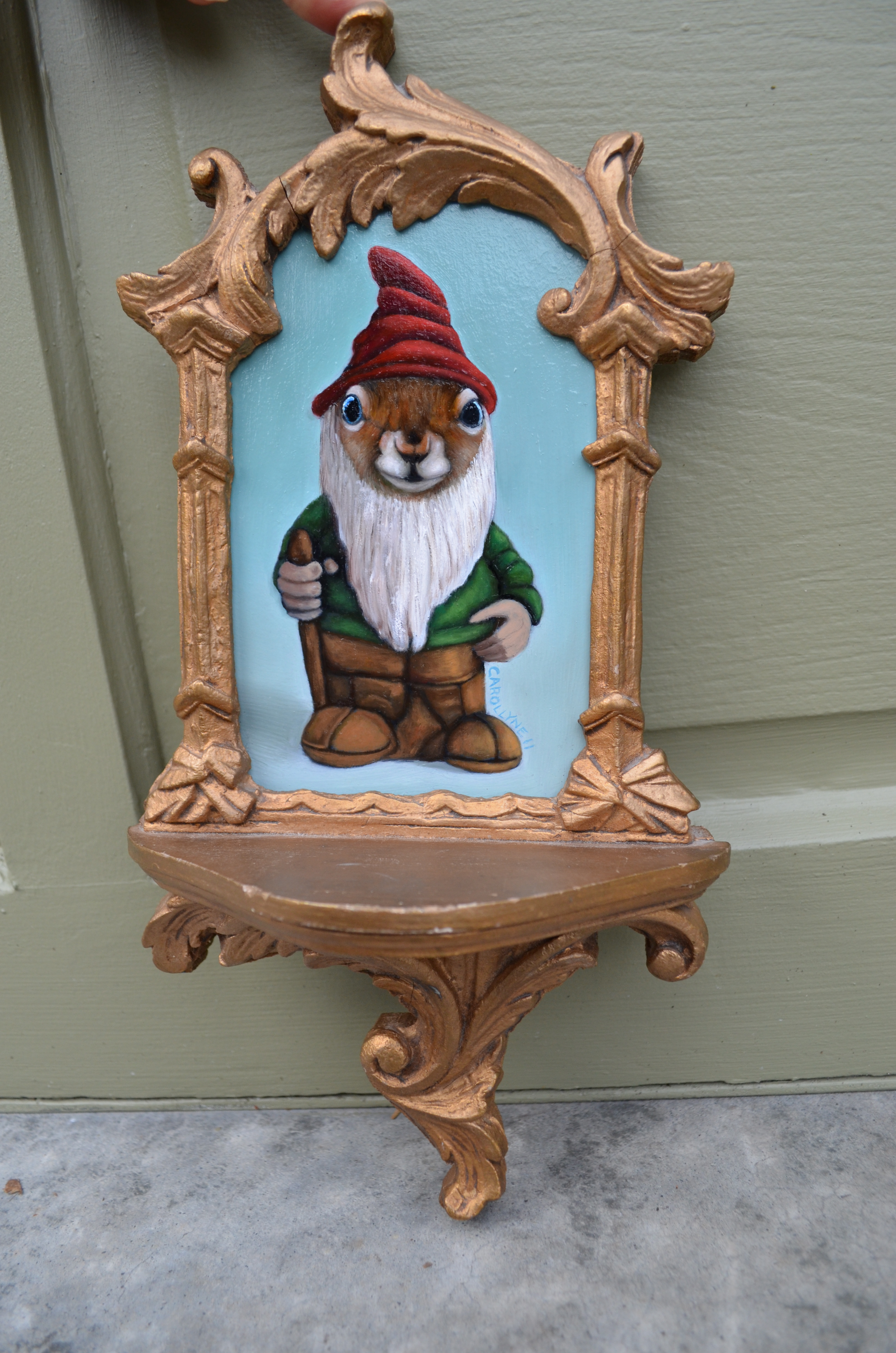 "Gnome Squirrel | 4"" X 7"" 