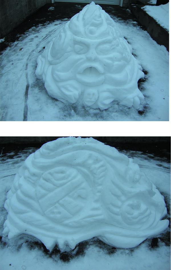 James Mantle, Snow Sculpture, 2012