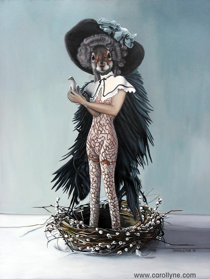 The Dovekeeper, Oil on Board, 24 X 30, Carollyne Yardley, 2012