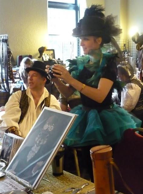 Carollyne Yardley at Steam Punk Convention, Photo by Sheila Wenham