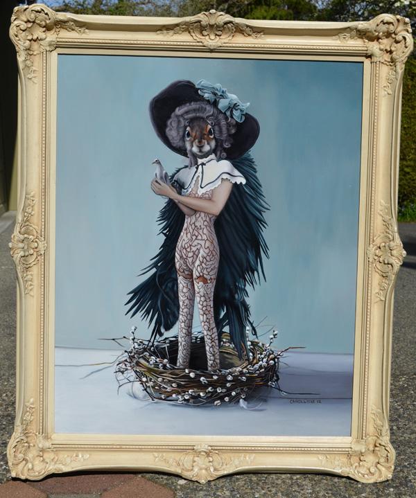 The Dovekeeper | Oil on Board | 2012 | Carollyne Yardley