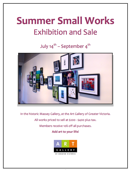 Summer Small Works Poster, Art Gallery of Greater Victoria