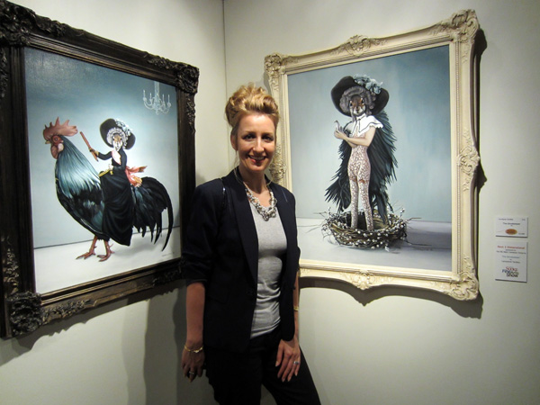 Carollyne Yardley @ Sooke Fine Art Show 2012. Best 2D Award. Photo by Angi Bailey