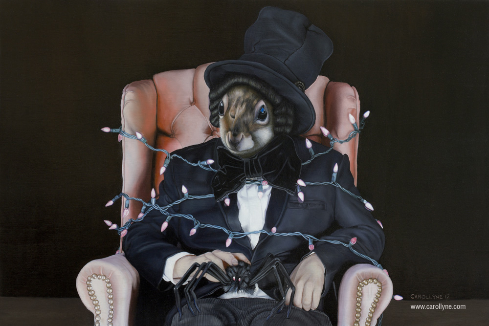Charlotte's Web (aka Spiderman) | 36 x 24, Oil on Board, 2012, Carollyne Yardley