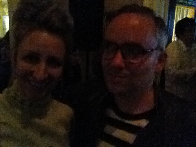 Carollyne Yardley with Noah Becker, Artist, Jazz Musician, and Editor-in-Chief of Whitehot Magazine