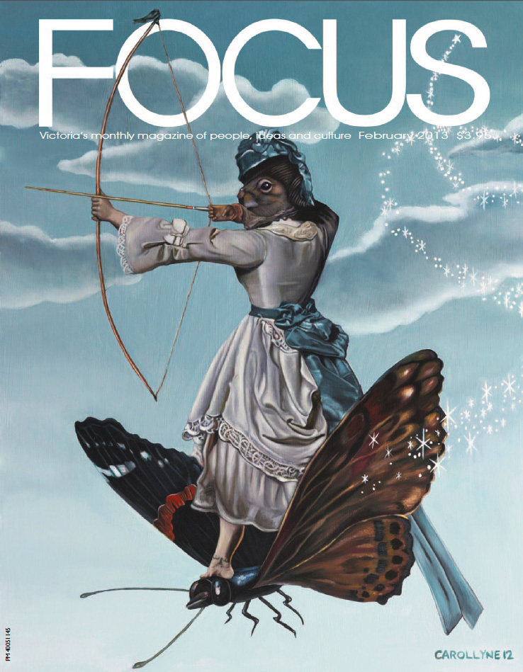 Focus Magazine February 2013 VOL. 25 NO.5, COVER and article by Aaren Madden, The unbearable lightness of squirrelspgs 30-31