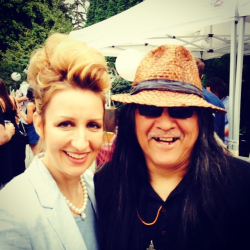 Having a fan moment meeting Lawrence Paul Yuxweluptun artbeatvancouver2015 artbeathellip