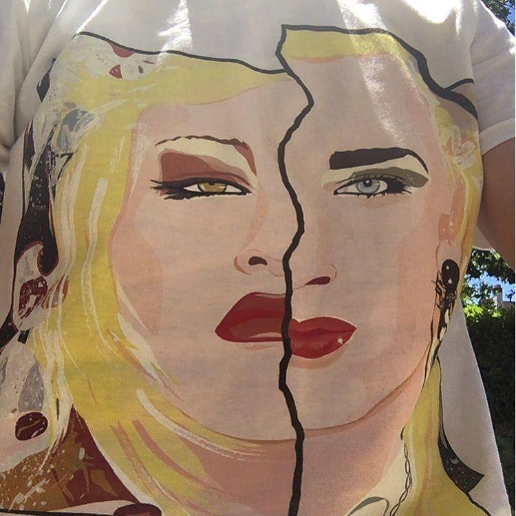 Hot summer days with my new tshirt! #cyndilauper #boygeorge