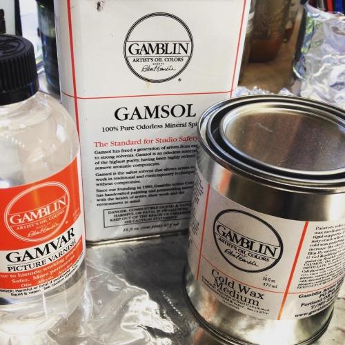 Today someone is gettinavarnish gamblin gamvar coldwax gamsol varnish