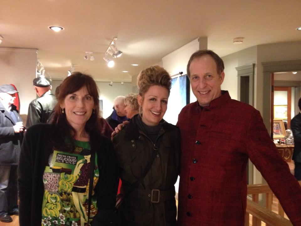 Wren, Carollyne Yardley, and Jeff Molloy at Winchester Gallery (Oak Bay). Opening reception for A Simple Life.