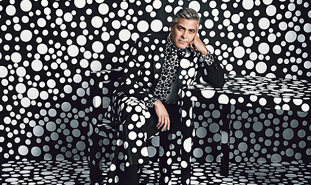 Spotted: George Clooney by Yayoi Kusama