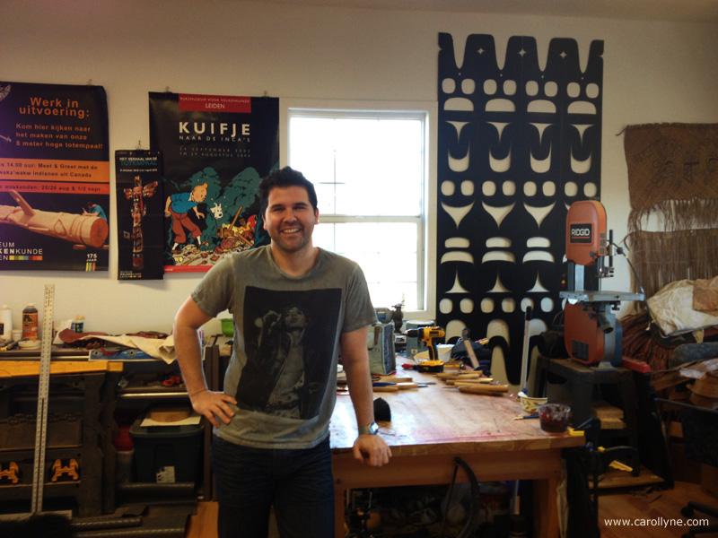 Rande Cook, Artist. Studio Visit Jan 2014.