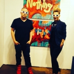 #arttoronto in 3D opening night with @whitehotmagazine Noah Becker and @backgalleryproj