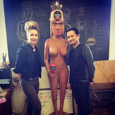 Studio visit at Rande Cook with Wesley Yuen Figure madehellip