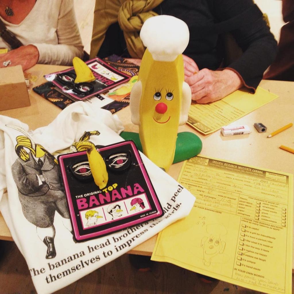 My 3 Bananas @openspacevic #annabanana #Squirrealism meets #Bananology #yyjarts