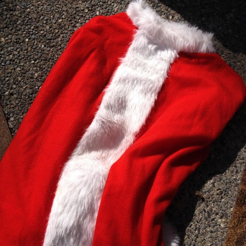 The grass skirt was right after the Santa costume xhellip