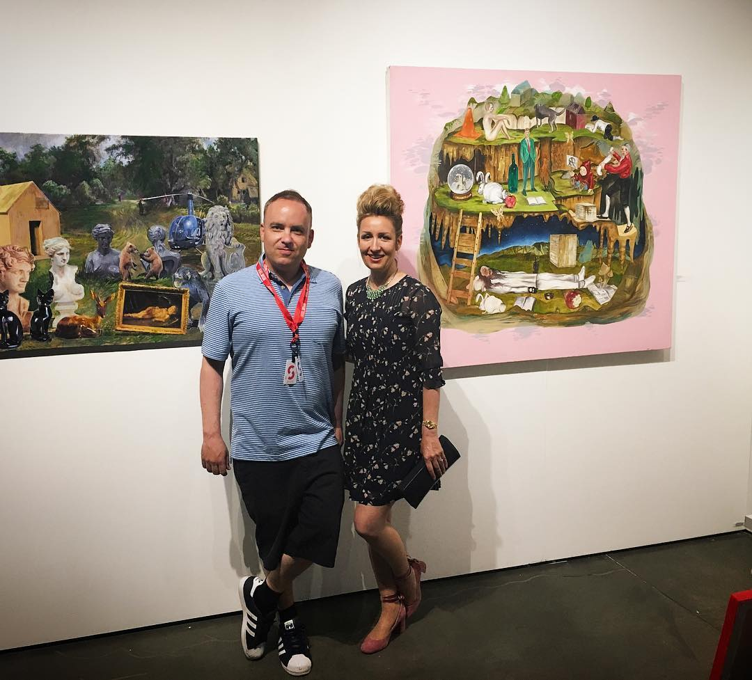 Double down! Works by Noah Becker also represented at Seattle Art Fair by Amy Li Gallery (New York). @seattleartfair @noahbeckerstudio #amylipeojects #seattleartfair #seattleart #noahbecker http://www.amy-li.com/home.html