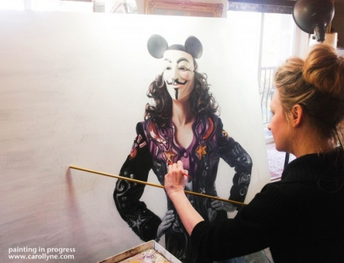 The Celebrity of Being Anonymouse – painting in progress