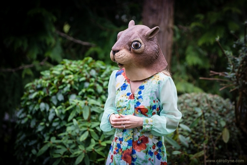 Styled by Carollyne Yardley 2013, photo by Jen Steele, Squirrel Mask by Archie McPhee