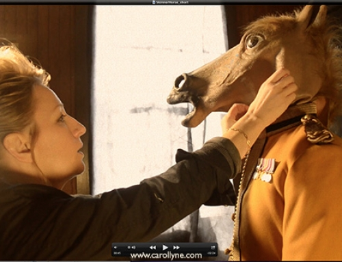 See How A Painting Comes To Life: Horse Heads, Squirrel Masks, and Wonder Woman