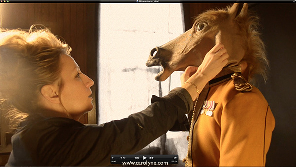 Horse Head Mask. Mask and Paintings Film Still .45min