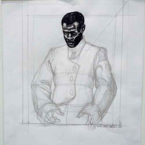 Kerry James Marshall ink on paper gregkuceragallery seattleartfair seattle